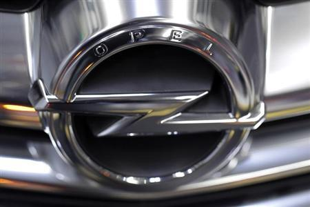 The Opel logo is placed on a Cascada model at an assembly line at the Opel Gliwice factory in southern Poland February 28, 2013. REUTERS/Peter Andrews