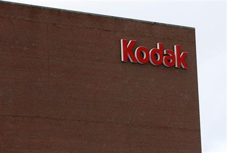 The Kodak logo is seen at the now mostly unused Kodak factory in Rochester, New York, January 1, 2013. REUTERS/Carlo Allegri