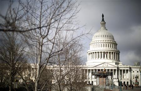 The U.S. Capitol Building is pictured in Washington, February 27, 2013. Pressure is mounting on Congress and the White House to find a way to avoid a package of $85 billion in across-the board spending cuts, known as the ''sequester'' due to take effect on March 1. REUTERS/Jason Reed