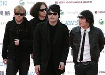 Members of the U.S. rock band My Chemical Romance arrive at the MTV Video Music Awards Japan 2007 in Saitama, north of Tokyo, May 26, 2007. REUTERS/Kiyoshi Ota