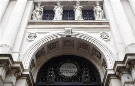 The headquarters of the Bank of Italy is pictured in downtown Milan January 11, 2013. REUTERS/Alessandro Garofalo