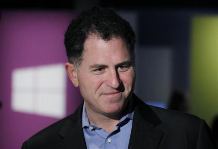 Michael Dell Chairman and CEO of Dell Inc. arrives at the launch event of Windows 8 operating system in New York, October 25, 2012. REUTERS/Lucas Jackson