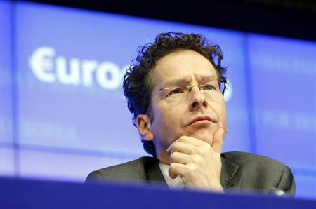 Eurogroup President Jeroen Dijsselbloem attends a news conference at the end of a Eurogroup meeting at the European Council building in Brussels, March 25, 2013. REUTERS/Sebastien Pirlet