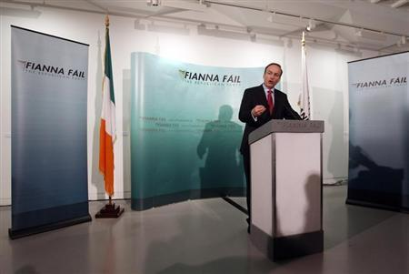 Former Irish foreign minister, Micheal Martin, speaks to the media, in Dublin January 26, 2011. REUTERS/Cathal McNaughton