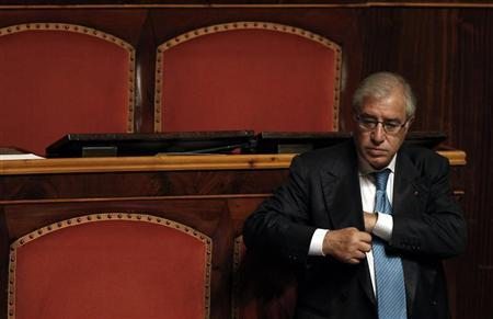 Italian senator Marcello Dell'Utri attends a debate at the Senate in Rome September 30, 2010. REUTERS/Alessandro Bianchi