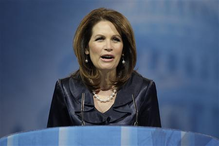 U.S. Representative Michele Bachmann (R-MN) speaks to the Conservative Political Action Conference (CPAC) in National Harbor, Maryland, March 16, 2013. REUTERS/Jonathan Ernst