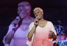 Dionne Warwick performs during the Jamaica Jazz and Blues festival in Trelawny, January 26, 2013. Picture taken January 26, 2013. REUTERS/Gilbert Bellamy
