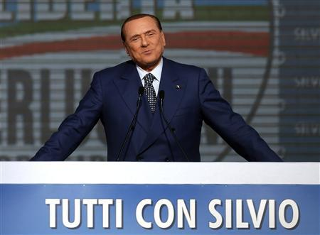 Italy's former Prime Minister Silvio Berlusconi attends a meeting in Rome March 23, 2013. REUTERS/Yara Nardi