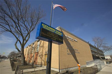 Alexandre Dumas Technology Academy Elementary is seen in Chicago, Illinois, March 22, 2013. REUTERS/John Gress