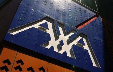 The AXA Asia Pacific logo sign is seen at its headquarters in Melbourne December 14, 2009. REUTERS/Mick Tsikas