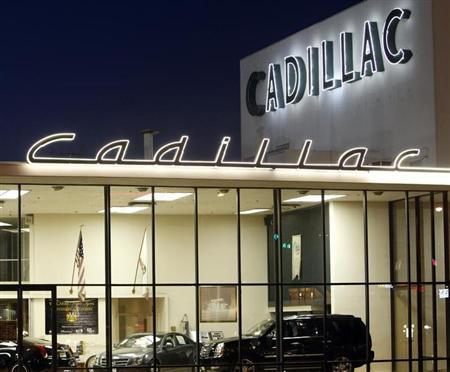 A view of a Cadillac dealer in Sherman Oaks, California August 17, 2010. REUTERS/Mario Anzuoni