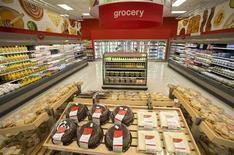 Shelves are stocked at Target Canada's store in Guelph, Ontario, March 4, 2013. REUTERS/Geoff Robins
