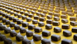 Chocolate pralines are seen at Belgian chocolate maker Neuhaus in Vlezenbeek, near Brussels March 13, 2013. REUTERS/Yves Herman