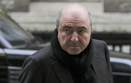 Russian oligarch Boris Berezovsky arrives at a division of the High Court in central London December 19, 2011. REUTERS/Olivia Harris