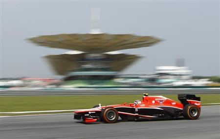 Marussia Formula One driver Max Chilton of Britain drives during the first practice session of the Malaysian F1 Grand Prix at Sepang International Circuit outside Kuala Lumpur, March 22, 2013. REUTERS/Samsul Said