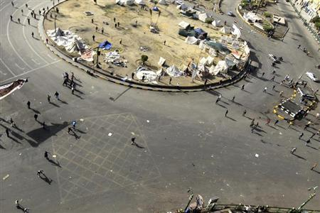 A general view of Tahrir Square, where anti-government protesters are being dispersed by security personnel, in Cairo in this file March 3, 2013 photo. REUTERS/Mohamed Abd El Ghany
