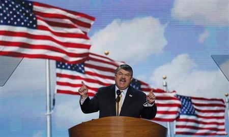 Richard Trumka, President of the American Federation of Labor and Congress of Industrial Organizations (AFL-CIO), addresses delegates during the second session of the Democratic National Convention in Charlotte, North Carolina, September 5, 2012. REUTERS/Jason Reed