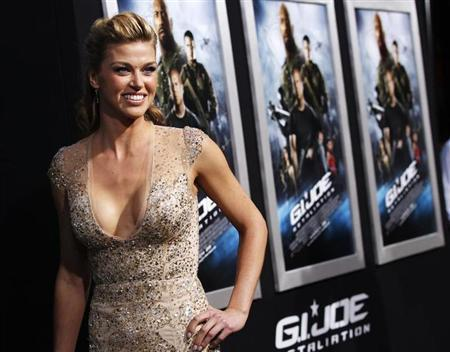 Cast member Adrianne Palicki poses at the premiere of ''G.I. Joe: Retaliation'' in Hollywood, California March 28, 2013. The movie opens in the U.S. on March 28. REUTERS/Mario Anzuoni