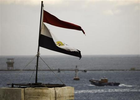 Egyptian national flag flutters at Port Said, northeast of Cairo February 1, 2013. REUTERS/Amr Abdallah Dalsh