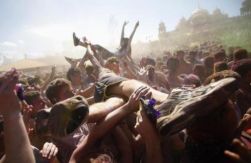 Holi festival in Utah
