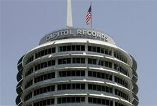 The Capitol Records building is pictured in Hollywood, California in this file photo taken June 11, 2008. In a major lawsuit testing the legitimacy of music downloads, Capitol Records LLC has won a court ruling that the start-up ReDigi Inc has infringed its music copyrights. REUTERS/Fred Prouser/Files