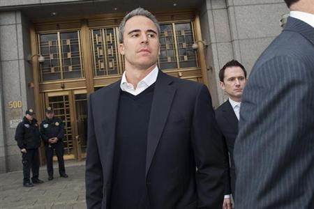 Michael Steinberg leaves Manhattan Federal Court in New York March 29, 2013. REUTERS/Keith Bedford