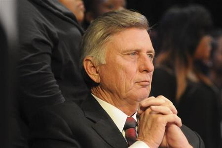 Arkansas governor Mike Beebe looks on during a Martin Luther King Jr. service in Little Rock, Arkansas in this January 15, 2013 Governor's office handout photo obtained by Reuters March 6, 2013. REUTERS/Arkansas Governor's Office/Handout