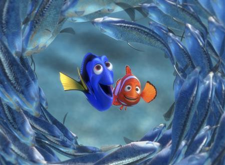 The characters Dory and Marlin are seen in a scene from ''Finding Nemo''. REUTERS/Disney/Pixar