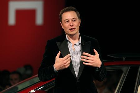 Tesla Motors CEO Elon Musk speaks during the Model S Beta Event held at the Tesla factory in Fremont, California in this October 1, 2011, file photo. REUTERS/Stephen Lam/Files