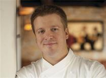 Chef Justin Cogley poses in this undated handout photo provided by Melissa Welles PR. Cogley, a former professional figure skater, was named one of the top new American chefs by Food & Wine Magazine on April 2, 2013. REUTERS/Patrick Tregenza via Melissa Welles PR/Handout