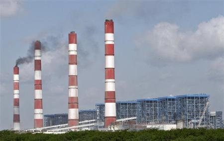 A general view of Adani Power Company thermal power plant is pictured at Mundra in Gujarat September 24, 2012. REUTERS/Amit Dave/Files