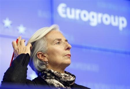 International Monetary Fund (IMF) executive director Christine Lagarde attends a news conference at the end of a Eurogroup meeting at the European Council building in Brussels, March 25, 2013. REUTERS/Sebastien Pirlet