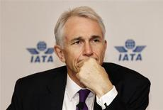 International Air Transport Association (IATA) director general Tony Tyler listens to a question at a news conference after the 68th IATA annual general meeting, in Beijing June 12, 2012. REUTERS/Jason Lee