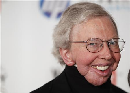 Film critic Roger Ebert arrives to attend the Webby Awards in New York in this file photo taken June 14, 2010. Ebert announced Tuesday that he will take a ''leave of presence'' after a recurrence of cancer. The Pulitzer Prize-winning critic has had a series of health struggles since being diagnosed with papillary thyroid cancer in 2002. REUTERS/Lucas Jackson/Files