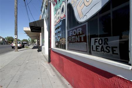 Closed businesses are seen along Martin Luther King Drive in Stockton, California June 27, 2012. REUTERS/Kevin Bartram