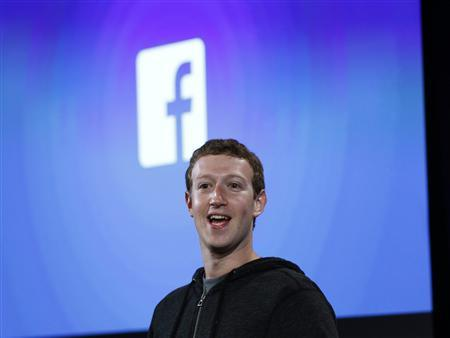 Mark Zuckerberg, Facebook's co-founder and chief executive speaks during a Facebook press event in Menlo Park, California, April 4, 2013. REUTERS/Robert Galbraith