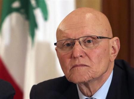 Lebanese former minister Tammam Salam attends a meeting for pro-Western March 14 political coalition in Beirut April 4, 2013. REUTERS/Mohamed Azakir