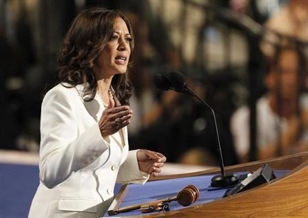 California Attorney General Kamala Harris addresses the second session of the Democratic National Convention in Charlotte, North Carolina September 5, 2012. REUTERS/Jonathan Ernst