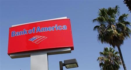 A sign for a Bank of America office is pictured in Burbank, California August 19, 2011. REUTERS/Fred Prouser/Files