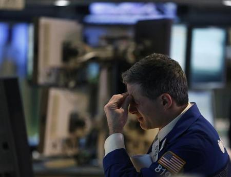 A trader works on the floor at the New York Stock Exchange, April 5, 2013. REUTERS/Brendan McDermid