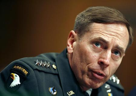 US Commander in Iraq General David Petraeus speaks to the Senate Armed Services Committee on Capitol Hill in Washington April 8, 2008. REUTERS/Joshua Roberts