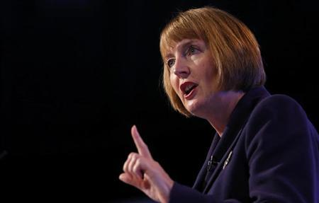 The deputy leader of Britain's opposition Labour Party, Harriet Harman, delivers her speech on the last day of the party's conference in Manchester, northern England October 4, 2012. REUTERS/Andrew Winning