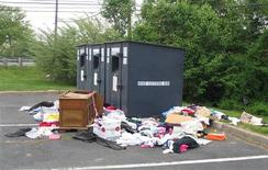 A Goodwill Donation Bin is pictured in New Jersey in this recent Goodwill Industries International photograph released to Reuters on April 5, 2013. REUTERS/Goodwill Industries International/Handout