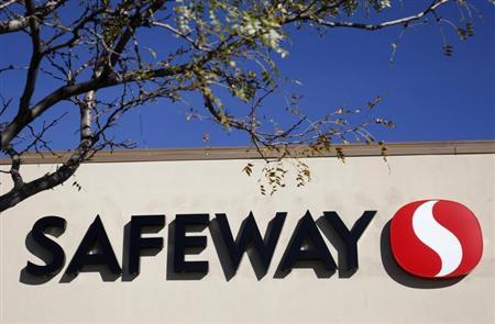 The sign outside the local Safeway grocery store is framed by a tree in Arvada, Colorado October 14, 2010. REUTERS/Rick Wilking