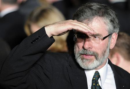 Sinn Fein leader Gerry Adams of Ireland attends a St. Patrick's Day reception at the White House in Washington, March 17, 2011. REUTERS/Jonathan Ernst