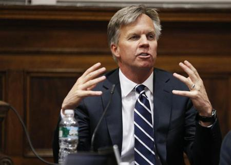Ron Johnson testifies in New York state Supreme Court in Manhattan March 1, 2013. REUTERS/Thomas Iannaccone/Pool