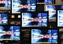 Sky News, propriété du britannique British Sky Broadcasting, premier groupe de télévision en Europe avec un chiffre d'affaires de 8,5 milliards d'euros, en hausse de 5,4% en 2012. Les principaux groupes de télévision privés en Europe ont vu leur chiffre d'affaires progresser de 1,9% en 2012, en dépit de la contraction économique dans l'Union européenne (-0,3%). /Photo d'archives/REUTERS/David Moir