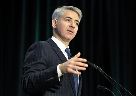 Activist shareholder William Ackman of Pershing Square Capital Management speaks during the Canadian Pacific Railway Ltd. shareholders and analysts meeting in Toronto in this February 6, 2012 file photograph. REUTERS/Mike Cassese/Files