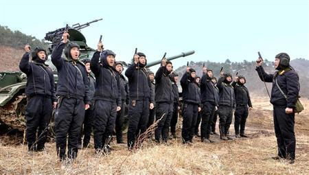 North Korean soldiers attend military drills in this picture released by the North's official KCNA news agency in Pyongyang March 20, 2013. REUTERS/KCNA