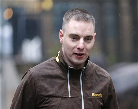 Ryan Ackroyd, 26, arrives at Southwark Crown Court in central London, April 9, 2013. REUTERS/Andrew Winning